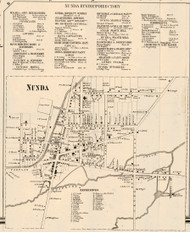 Nunda Village, New York 1858 Old Town Map Custom Print - Livingston Co.