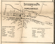 Inverness, New York 1858 Old Town Map Custom Print - Livingston Co.