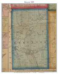 DeRuyter, New York 1859 Old Town Map Custom Print - Madison Co.