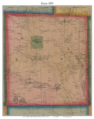 Eaton, New York 1859 Old Town Map Custom Print - Madison Co.