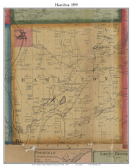 Hamilton, New York 1859 Old Town Map Custom Print - Madison Co.