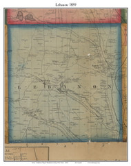 Lebanon, New York 1859 Old Town Map Custom Print - Madison Co.