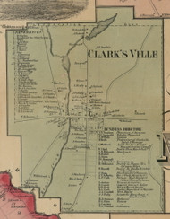 Clarksville, New York 1859 Old Town Map Custom Print - Madison Co.