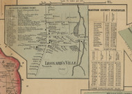 Leonardsville, New York 1859 Old Town Map Custom Print - Madison Co.