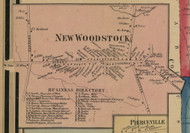 New Woodstock, New York 1859 Old Town Map Custom Print - Madison Co.