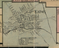 Eaton Village, New York 1859 Old Town Map Custom Print - Madison Co.