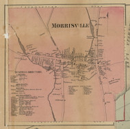 Morrisville, New York 1859 Old Town Map Custom Print - Madison Co.