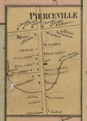Pierceville, New York 1859 Old Town Map Custom Print - Madison Co.