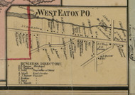 West Eaton P.O., New York 1859 Old Town Map Custom Print - Madison Co.