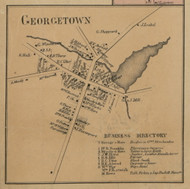 Georgetown Village, New York 1859 Old Town Map Custom Print - Madison Co.