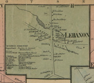 Lebanon Village, New York 1859 Old Town Map Custom Print - Madison Co.