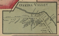 Oneida Valley, New York 1859 Old Town Map Custom Print - Madison Co.