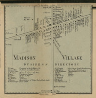 Madison Village, New York 1859 Old Town Map Custom Print - Madison Co.