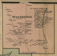 Stockbridge Village, New York 1859 Old Town Map Custom Print - Madison Co.