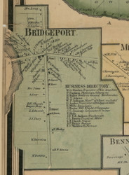 Bridgeport, New York 1859 Old Town Map Custom Print - Madison Co.