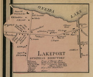 Lakeport, New York 1859 Old Town Map Custom Print - Madison Co.