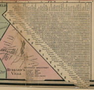 Table of Distances, New York 1859 Old Town Map Custom Print - Madison Co.
