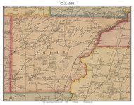 Chili, New York 1852 Old Town Map Custom Print - Monroe Co.