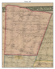 Clarkson, New York 1852 Old Town Map Custom Print - Monroe Co.