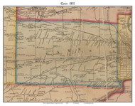 Gates, New York 1852 Old Town Map Custom Print - Monroe Co.