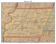 Henrietta, New York 1852 Old Town Map Custom Print - Monroe Co.