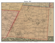 Mendon, New York 1852 Old Town Map Custom Print - Monroe Co.