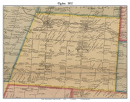 Ogden, New York 1852 Old Town Map Custom Print - Monroe Co.