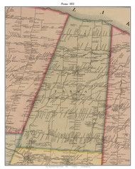 Parma, New York 1852 Old Town Map Custom Print - Monroe Co.