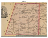 Riga, New York 1852 Old Town Map Custom Print - Monroe Co.