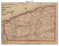 Webster, New York 1852 Old Town Map Custom Print - Monroe Co.
