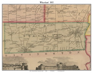 Wheatland, New York 1852 Old Town Map Custom Print - Monroe Co.