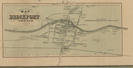 Brockport Village, New York 1852 Old Town Map Custom Print - Monroe Co.