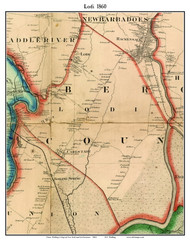 Lodi, New Jersey 1860 Old Town Map Custom Print - NYC Environs