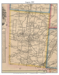 Augusta, New York 1852 Old Town Map Custom Print - Oneida Co.