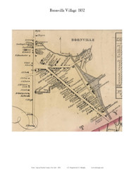 Boonville Village, New York 1852 Old Town Map Custom Print - Oneida Co.