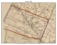 Camden, New York 1852 Old Town Map Custom Print - Oneida Co.
