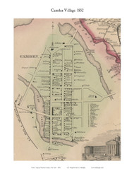 Camden Village, New York 1852 Old Town Map Custom Print - Oneida Co.