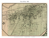 City of Utica, New York 1852 Old Town Map Custom Print - Oneida Co.