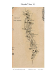 Clayville Village, New York 1852 Old Town Map Custom Print - Oneida Co.