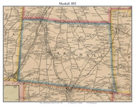 Marshall, New York 1852 Old Town Map Custom Print - Oneida Co.