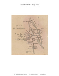 New Hartford Village, New York 1852 Old Town Map Custom Print - Oneida Co.