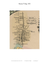 Remsen Village, New York 1852 Old Town Map Custom Print - Oneida Co.
