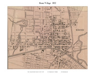 Rome Village, New York 1852 Old Town Map Custom Print - Oneida Co.