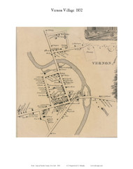 Vernon Village, New York 1852 Old Town Map Custom Print - Oneida Co.