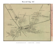 Waterville Village, New York 1852 Old Town Map Custom Print - Oneida Co.
