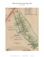 Whitesboro & Yorkville Villages, New York 1852 Old Town Map Custom Print - Oneida Co.