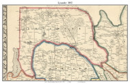 Lysander, New York 1852 Old Town Map Custom Print - Onondaga Co.