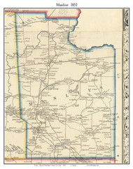 Manlius, New York 1852 Old Town Map Custom Print - Onondaga Co.