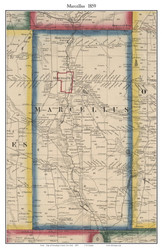 Marcellus, New York 1859 Old Town Map Custom Print - Onondaga Co.