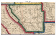 Otisco, New York 1859 Old Town Map Custom Print - Onondaga Co.